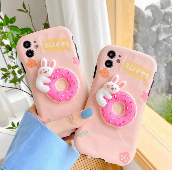 Sweet Rabbit Phone Case for iphone 7/7plus/8/8P/X/XS/XR/XS Max/11/11 pro/11 pro max JK2349