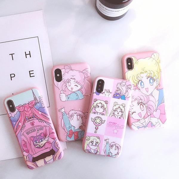 Kawaii Sailormoon Phone Case for iphone 6/6s/6plus/7/7plus/8/8P/X/XS/XR/XS Max/11/11 pro/11 pro max JK1832