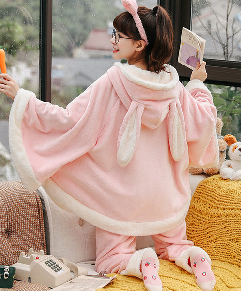 Lovely Rabbit Winter Pajamas Suits JK2548