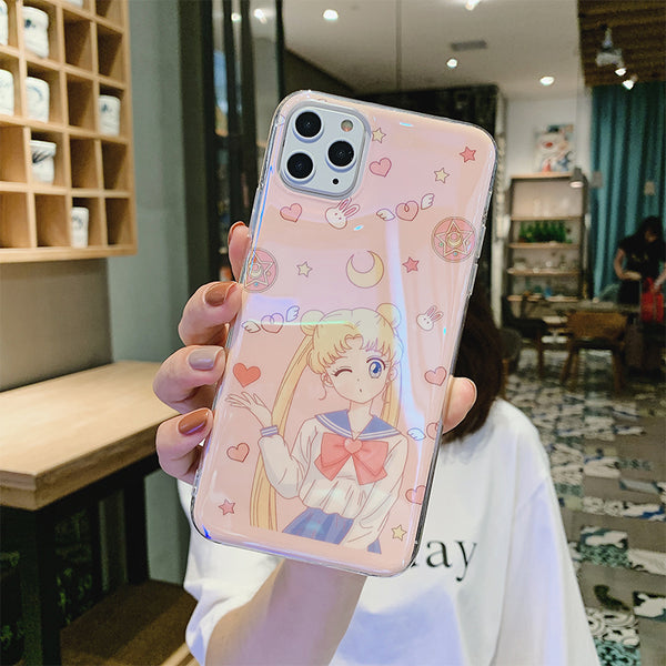 Sailormoon Phone Case for iphone 6/6s/6plus/7/7plus/8/8P/X/XS/XR/XS Max/11/11pro/11pro max JK2103