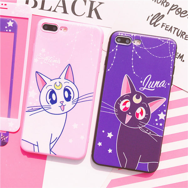 Luna And Artemis Phone Case for iphone 6/6s/6plus/7/7plus/8/8P/X/XS/XR/XS Max JK1208