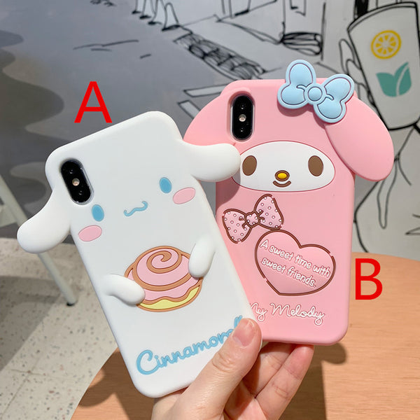 Pink Mymelody and Cinnamoroll Phone Case for iphone 6/6s/6plus/7/7plus/8/8P/X/XS/XR/XS Max JK1089