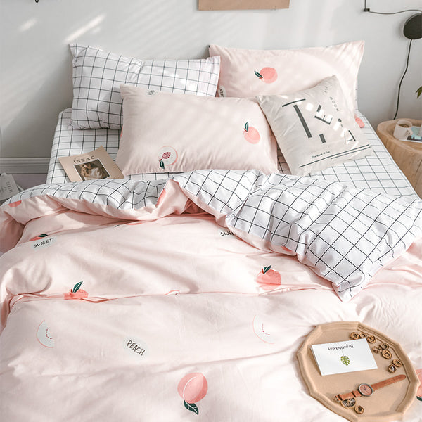 Fashion Peach Bedding Set JK2124