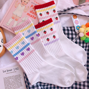 Strawberry and Hearts Socks JK1575