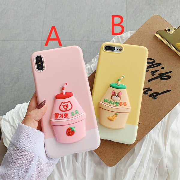 Lovely Banana and Strawberry Phone Case for iphone 6/6s/6plus/7/7plus/8/8P/X/XS/XR/XS Max JK1611
