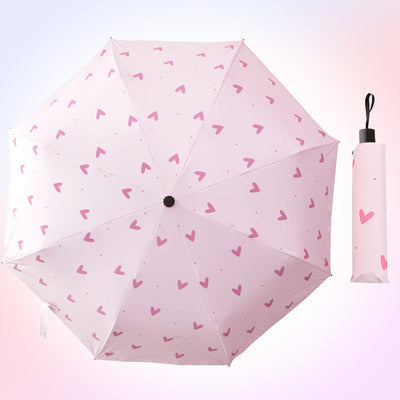 Fashion Girls Folding Sun Umbrella JK1264