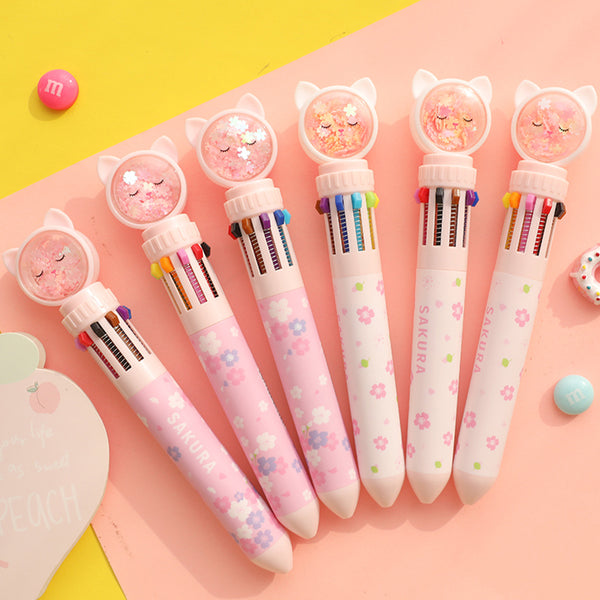 Sakura Ten Colors Ballpoint Pen JK2543
