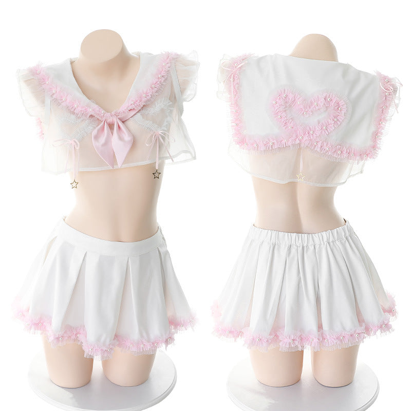 Cute Girls Collar Uniform Set JK2224