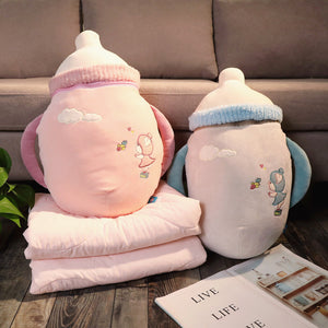 Lovely Baby Bottle Pillow And  Blanket JK2333
