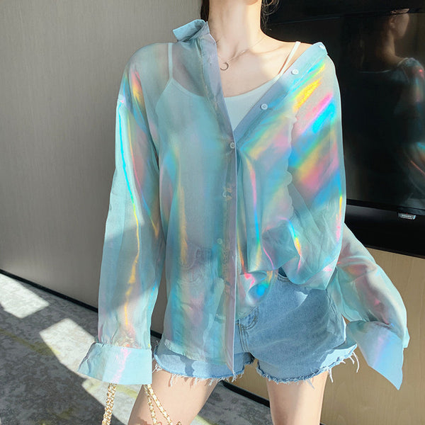 Fashion Girl Long Sleeve Shirt JK2248