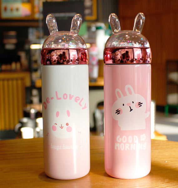 Cute Rabbit Stainless Steel Vacuum Water Bottle JK1857
