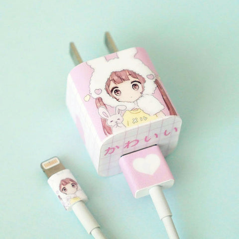 Cartoon Animals Iphone Charger Stickers JK1378