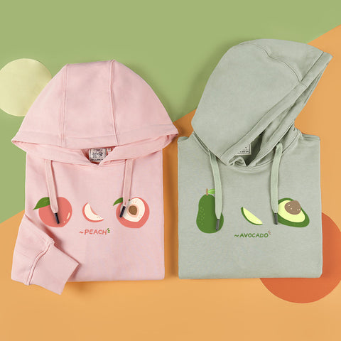 Fashion Peach and Avocado Hoodie JK2087