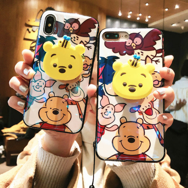 Lovely Winnie Phone Case for iphone 6/6s/6plus/7/7plus/8/8P/X/XS/XR/XS Max JK1533