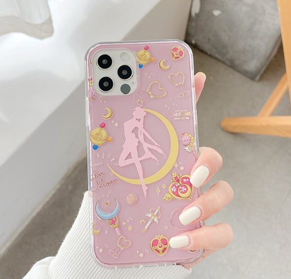 Cute Sailormoon Phone Case for iphone7/7plus/8/8P/X/XS/XR/XS Max/11/11 pro/11 pro max/12/12pro/12mini/12pro max JK2585