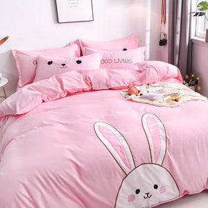 Kawaii Rabbit Bedding Set JK1625