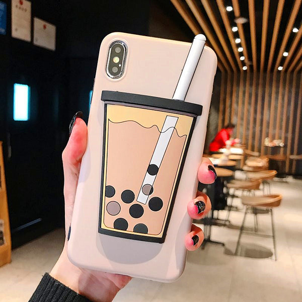 Bubble Tea Phone Case for iphone 6/6s/6plus/7/7plus/8/8P/X/XS/XR/XS Max JK1306