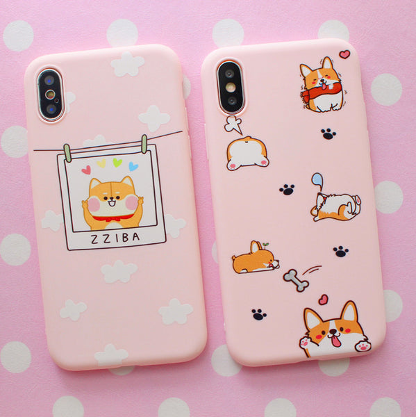 Happy Corgi Phone Case for iphone 6/6s/6plus/7/7plus/8/8P/X/XS/XR/XS Max JK1344
