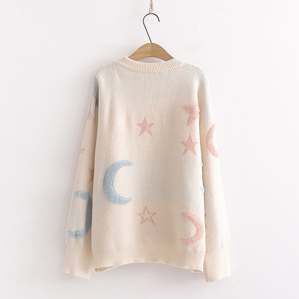 Sweet Moon and Stars Sweater JK1760