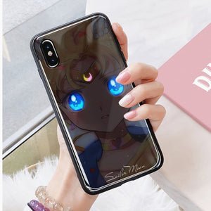 Black Sailormoon Phone Case for iphone 7/7plus/8/8P/X/XS/XR/XS Max/11/11 pro/11 pro max JK2256