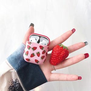 Kawaii Strawberry Airpods Protector Case JK1307