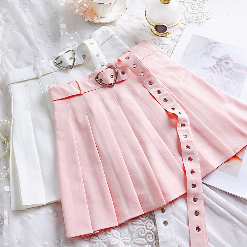 Fashion Girls Heart Pleated Skirt JK1503