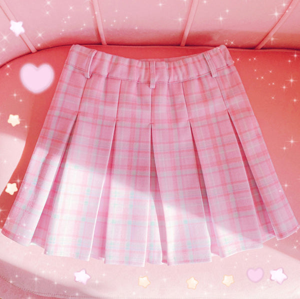 Fashion Hearts Plaid Skirt JK2659