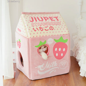 Strawberry and Banana Cat House JK2470