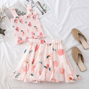 Sweet Fruits Top and Skirt Set JK1549