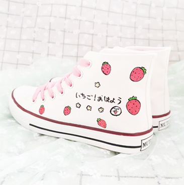 Sweet Strawberry Canvas Shoes JK2385