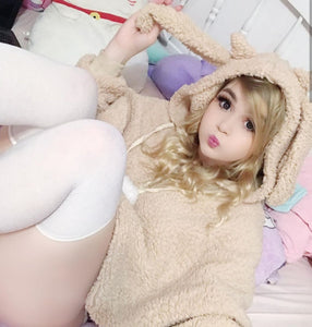 Fashion Rabbit Ears Hoodie Coat JK1775