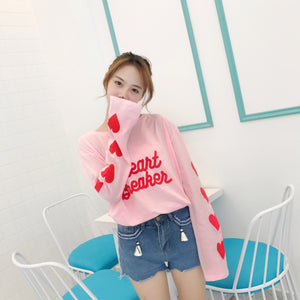 Love Heart Long Sleeve T-Shirt  JK1269