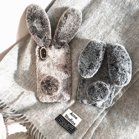 Plush Rabbit Phone Case for iphone7/7plus/8/8P/X/XS/XR/XS Max/11/11 pro/11 pro max JK1933