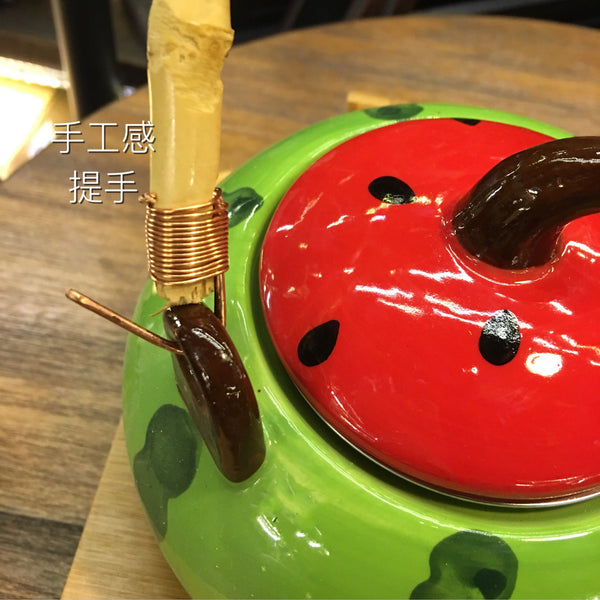 Kawaii Watermelon Ceramic Water Kettle and Cup Set JK2473