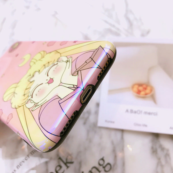 Cute Usagi Phone Case for iphone 6/6s/6plus/7/7plus/8/8P/X/XS/XR/XS Max JK1128
