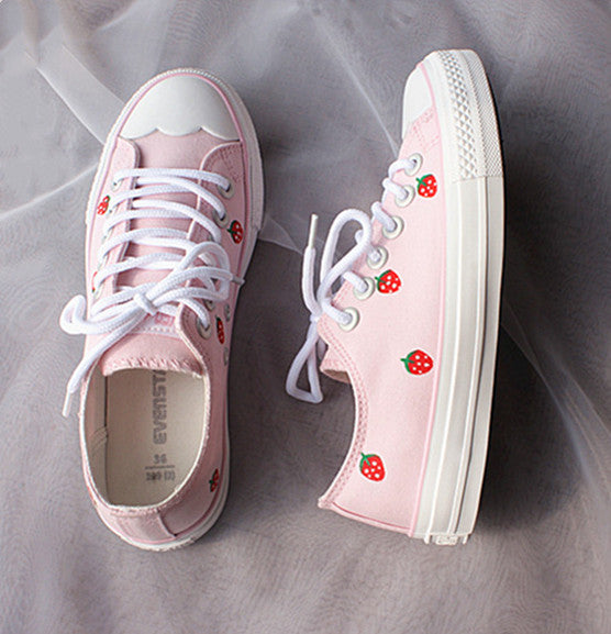 Kawaii Strawberry Canvas Shoes  JK1456