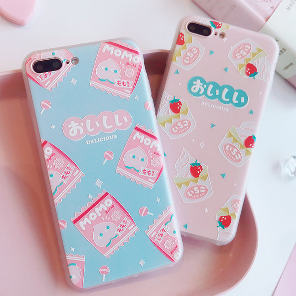 Cute Momo Phone Case for iphone 6/6s/6plus/7/7plus/8/8P/X JK1139