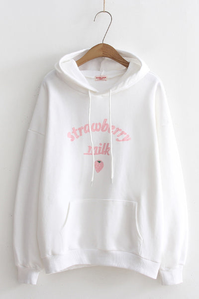 Fashion Strawberry Girl Hoodie JK1386