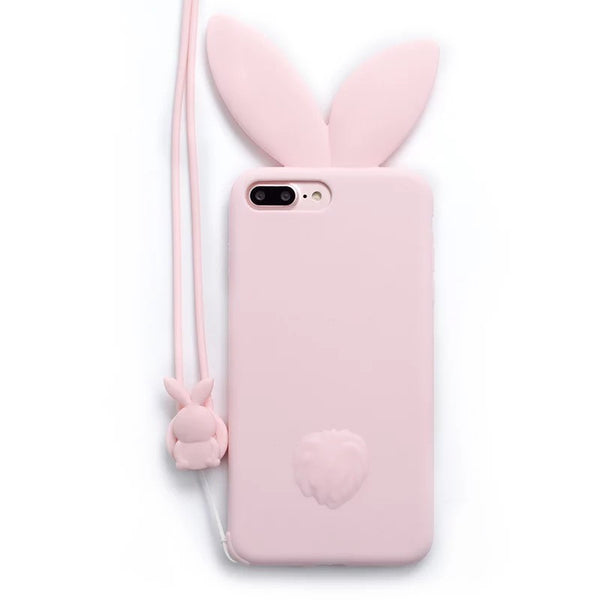 Lovely Rabbit Ears Phone Case for iphone 6/6s/6plus/7/7plus/8/8P/X/XS/XR/XS Max JK1546