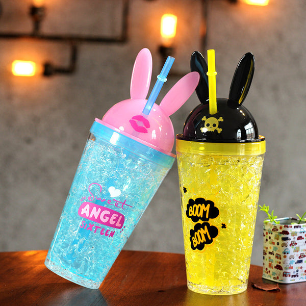 New Style Rabbit Ears Water Bottle  JK1237