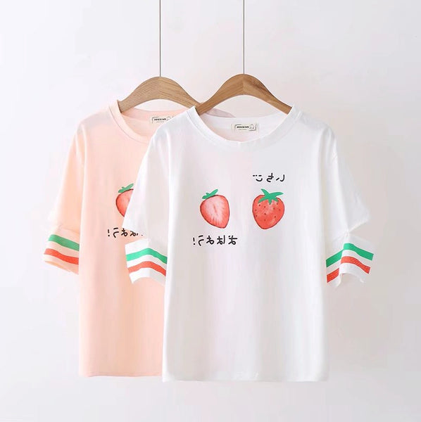 Cute Strawberry T-Shirt  JK1345