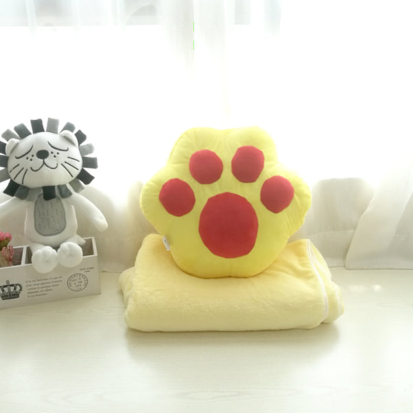 Lovely Cats Paw Pillow And Blanket JK2483