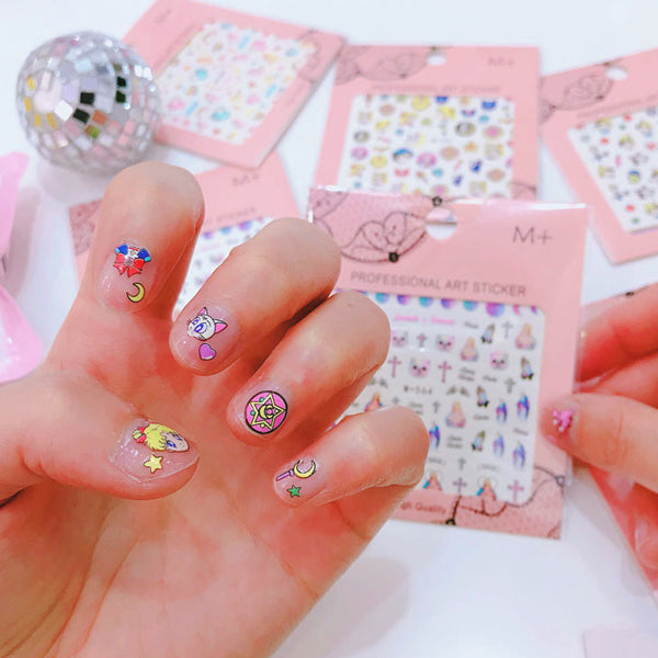 Sailormoon Luna Nail Stickers JK1141