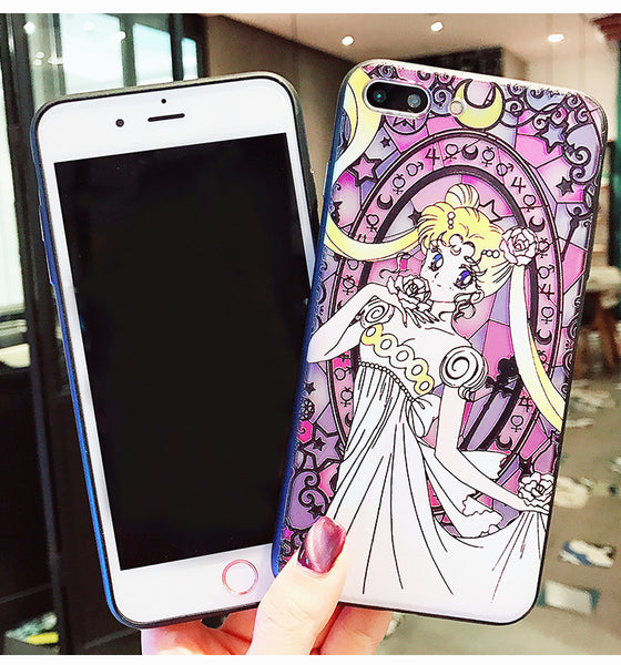 Sailormoon Usagi Phone Case for iphone 6/6s/6plus/7/7plus/8/8P JK1102