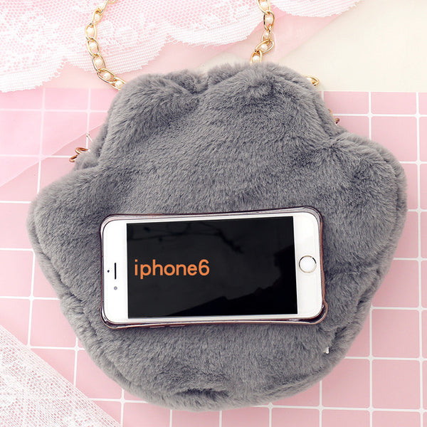 Soft Cats Paw Shoulder Bag JK1356