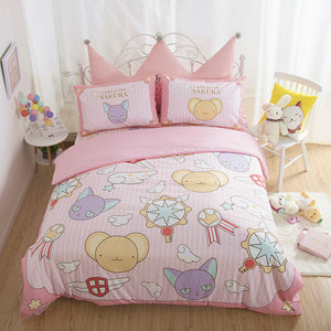 Cartoon Sakura Four Piece-suit Bedding JK1614