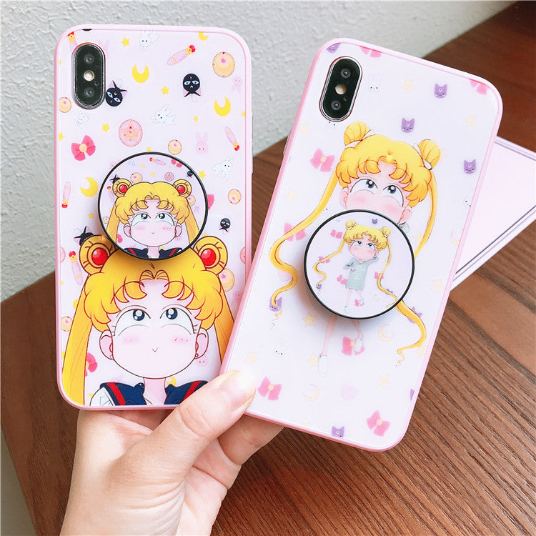 Sailormoon Usagi Phone Case for iphone 6/6s/6plus/7/7plus/8/8P/X JK1092