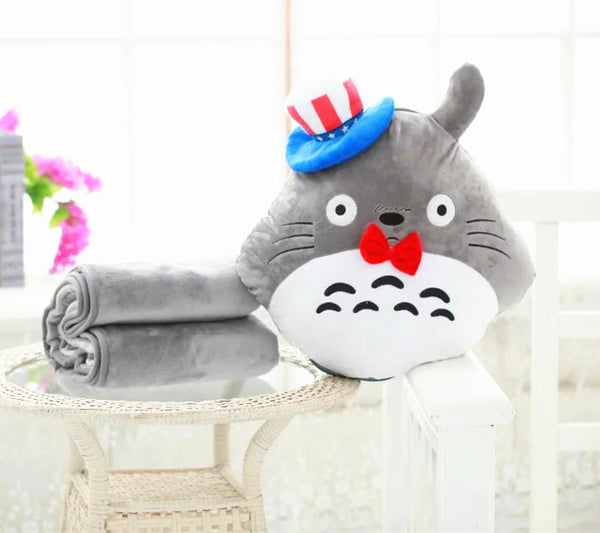 Totoro Pillow And  Blanket JK1051