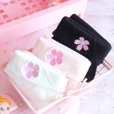 Cute Sakura Flower Socks JK1381