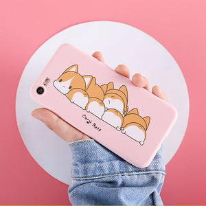 Kawaii Corgi Dog Phone Case for iphone 5/5s/5se/6/6s/6plus/7/7plus/8/8P/X/XS/XR/XS Max JK1210